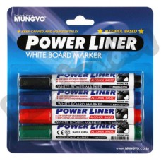 Маркеры Mungyo Power Liner, комплекты по 4, 8 и 12 шт