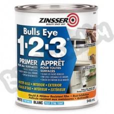 Zinsser Bulls Eye 1-2-3 - Пятно устраняющая грунтовка под грифельные и маркерные покрытия, 0.95-3.75 литра, США
