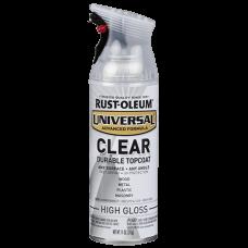 Rust Oleum Clear Topcoat - Финишный акриловый защитный лак для любых покрытий, 312 гр, США