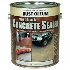 """Rust Oleum Concrete Sealer -  Пропитка для бетонных полов с эффектом """"мокрого камня"""", 3.78 л, США"""